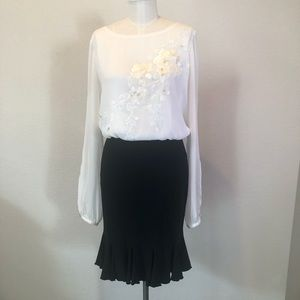 White House Black Market Black Skirt size S